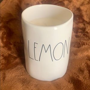 "Rae Dunn candle ""LEMON"""